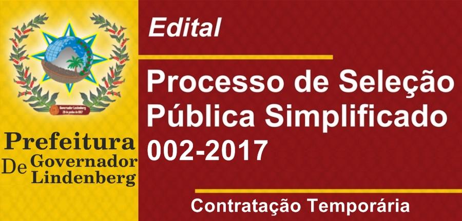 Prefeitura de Governador Lindenberg divulga edital para Contratação e Formação de Cadastro de Reserva de pessoal para atender necessidades temporárias de excepcional interesse público.