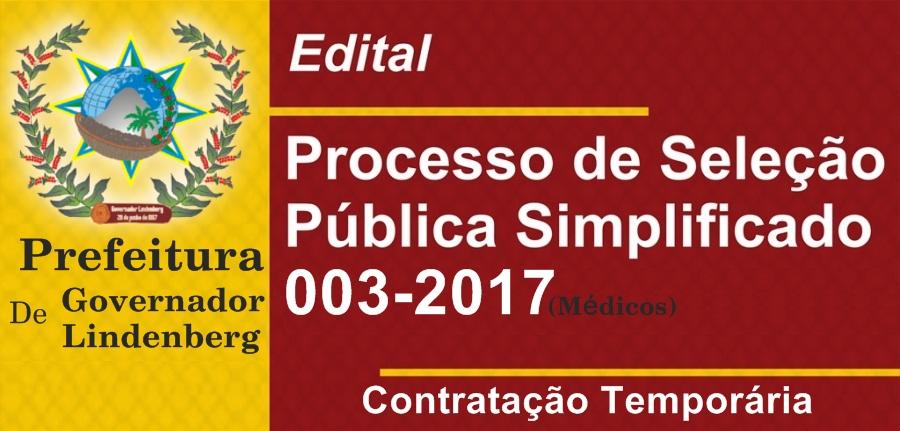 Prefeitura de Governador Lindenberg Divulga Decreto 5.393/2017 que estabelece normas para contração temporária de Médicos.