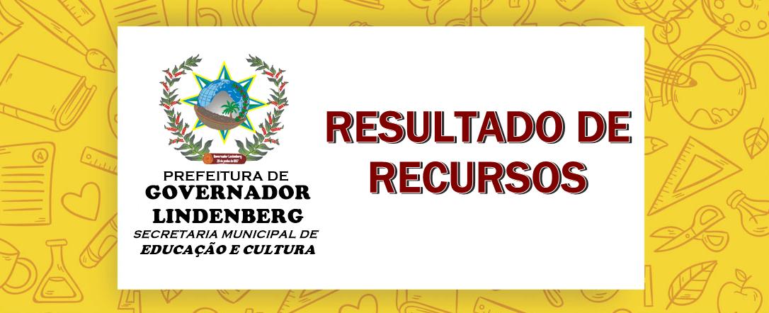 Resultado de Recursos do Processo de Seleção e Contratação, em regime de Designação Temporária de Profissionais do Magistério, habilitados e não habilitados.