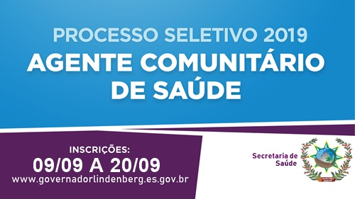 Secretaria Municipal de Saúde Divulga Edital do Processo Seletivo Simplificado para Agente Comunitário de Saúde.