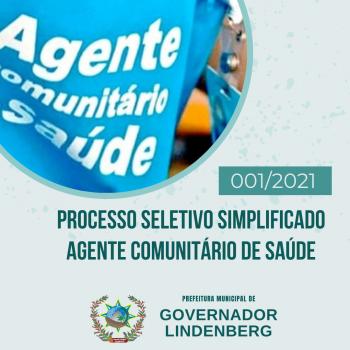 ABERTURA DE PROCESSO SELETIVO DE AGENTE COMUNITÁRIO DE SAÚDE